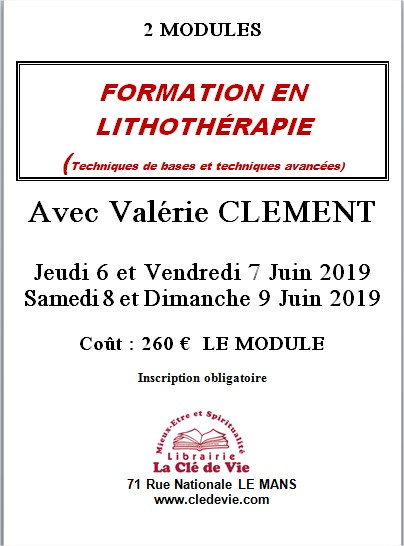 FORMATION EN LITHOTHERAPIE